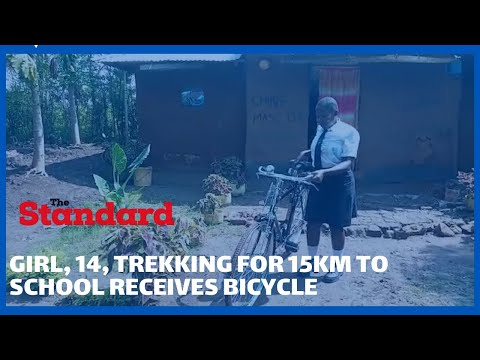 Well-wisher donates bicycle to 14-year-old form two student who has been walking 15KM to school