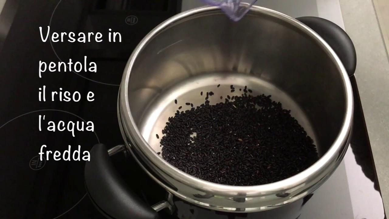 Cucinare riso Venere in pentola a pressione - YouTube