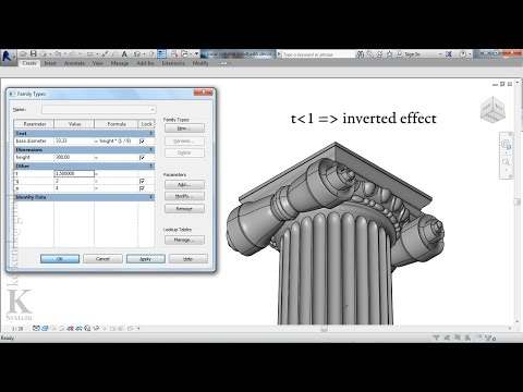 IONIC COLUMN (Revit Family)