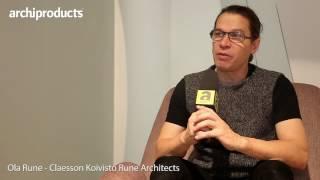 ORGATEC 2016 | Tacchini - Ola Rune: Claesson Koivisto Rune Architects