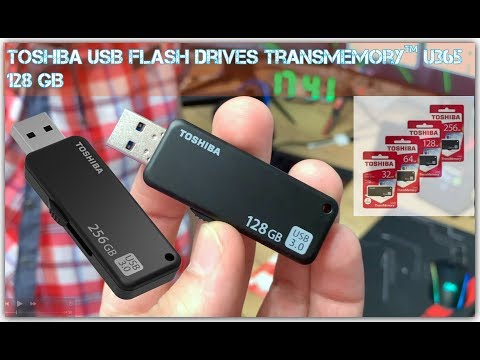 USB флешка Toshiba 128 GB TransMemory ™ U365 Быстрая скорость чтения Распаковка и Тест