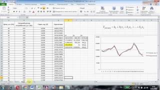 Линейный прогноз с помощью функции ТЕНДЕНЦИЯ в Excel