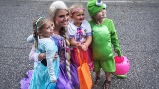 first time trick or treating together cutest costumes ever cole savannah and everleigh