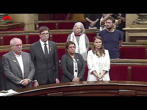 Catalan Parliament Members Sing Anthem After Vote to Declare Independence from Spain