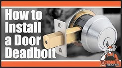How to Install a Deadbolt: Door Handle Install Part 2/2 - Defiant Kwikset Schlage