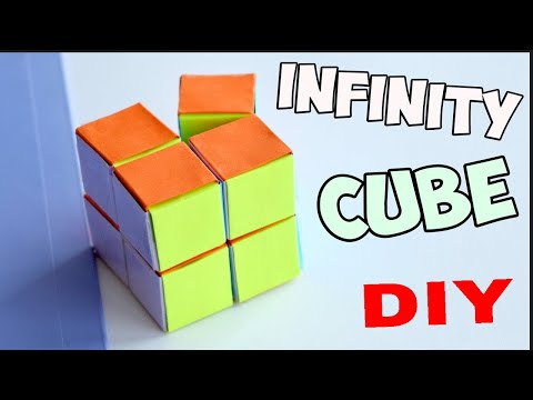 How To Make infinity fidget cube Out Of A Paper At Home||DIY At Home||homemade ||easy and simple