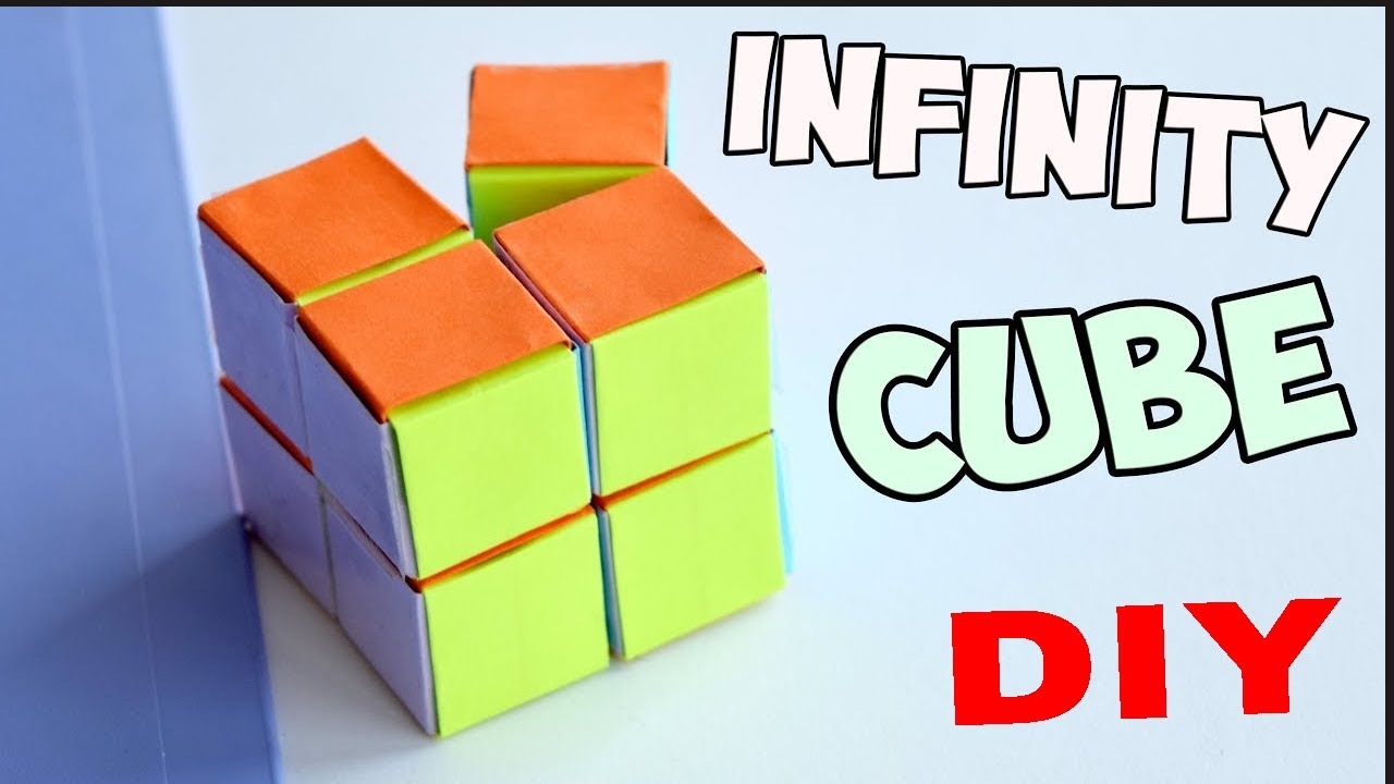 how to make infinity fidget cube out of a paper at home. Black Bedroom Furniture Sets. Home Design Ideas
