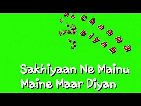 New green screen status lyrics punjabi song SAKHIYAN MANINDER BUTTER