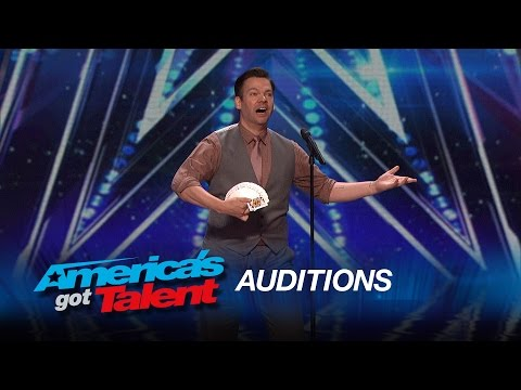 Derek Hughes: Comedic Magician Pulls a Card Out of His Butt - America's Got Talent 2015