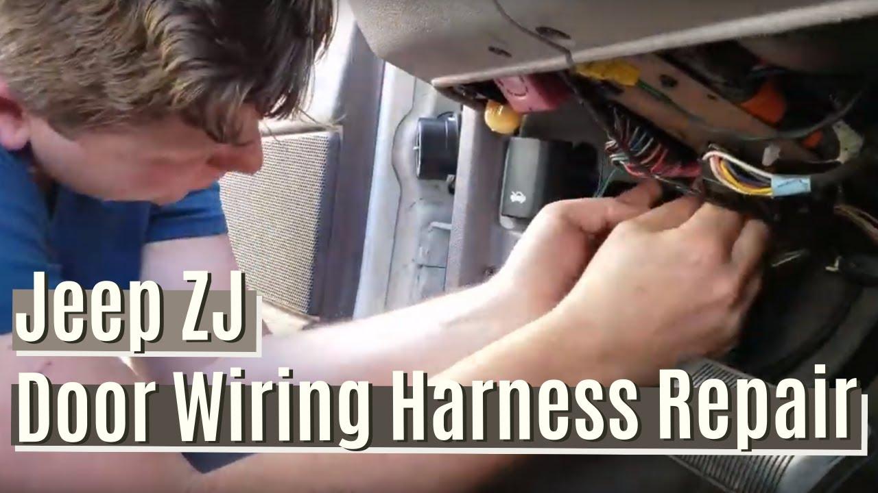 Jeep ZJ Door Wiring Harness Repair - YouTubeYouTube