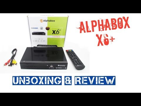 Unboxing and review Alphabox X6+ DVB Combo Malaysia - YouTube