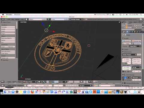 Blender-Converting 2D Image To 3D Object