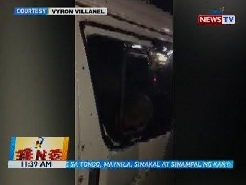 """Van na sinasakyan ni San Fernando Mayor """"Neneth"""" Reluya at lima niyang kasama, tinambangan"""