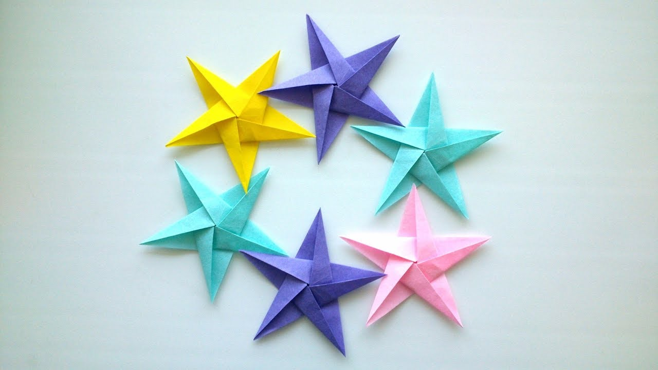 How To Make a Paper Ninja Star (Shuriken) - Origami - YouTube   720x1280