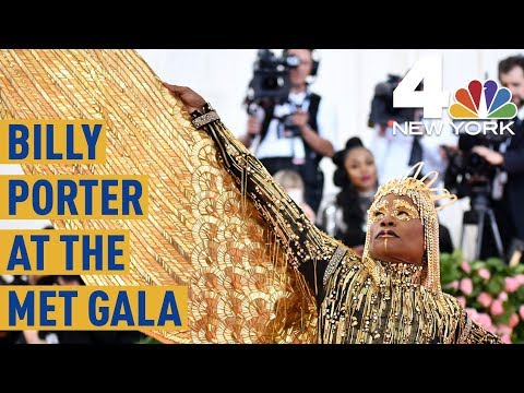 Met Gala 2019: Billy Porter Is Carried on the Pink Carpet by 6 Men  NBC New York