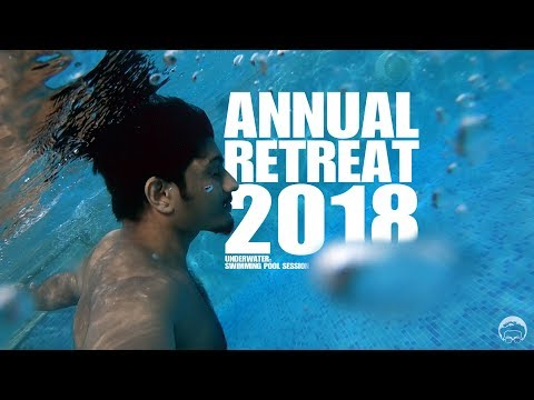 Underwater: swimming pool session @ annual retreat '18