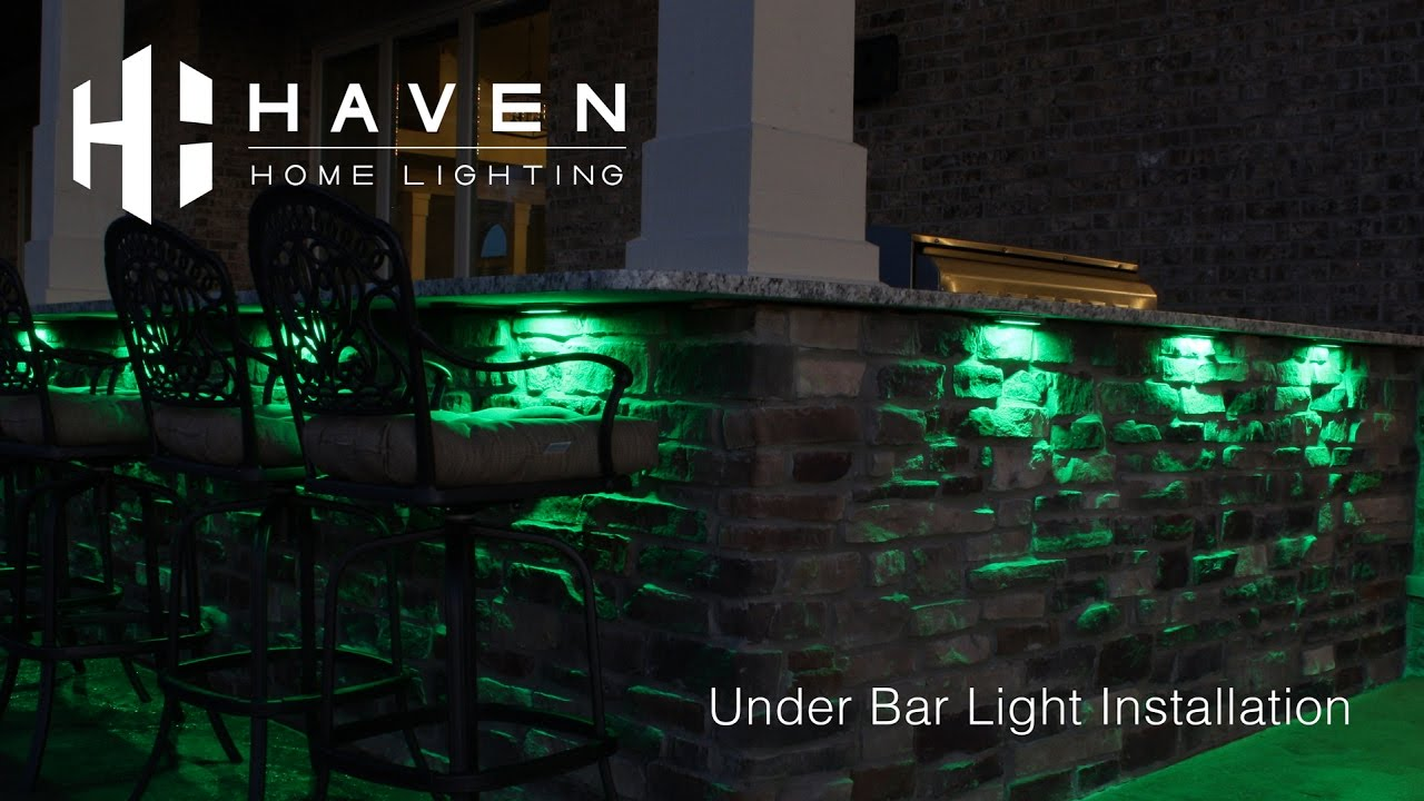 under bar light installation haven lighting