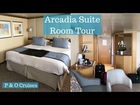 Arcadia Suite Room Tour - P & O Cruises