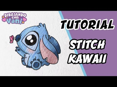 COMO DIBUJAR A STITCH KAWAII - IMAGENES FACILES ANIME PARA COLOREAR -  how to draw stitch easy
