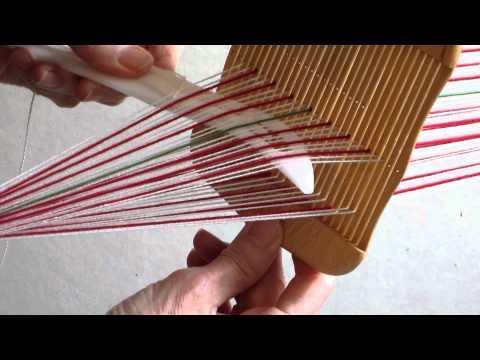 weaving narrow warp faced patterned bands