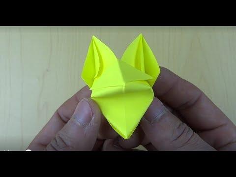 超级好玩手偶折纸狐狸
