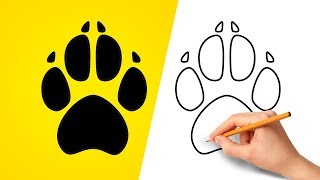 How to Draw a Dog Paw Print - Step by Step!