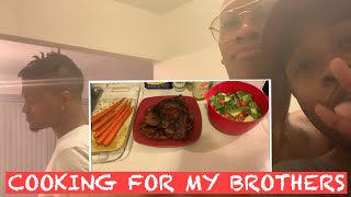 MAKING STEAK AND SPAGHETTI DINNER FOR MY BROTHERS MIKE AND LACEY