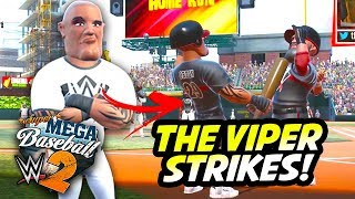 THE VIPER STRIKES!! | Super Mega Baseball 2 (WWE Edition)