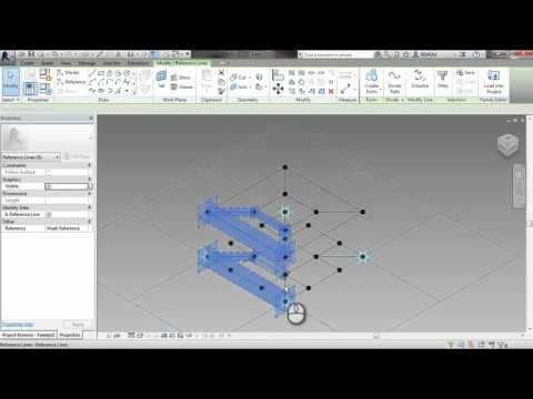Autodesk Revit_Method for Breeze Block Wall Pattern & Curtain Wall Frame