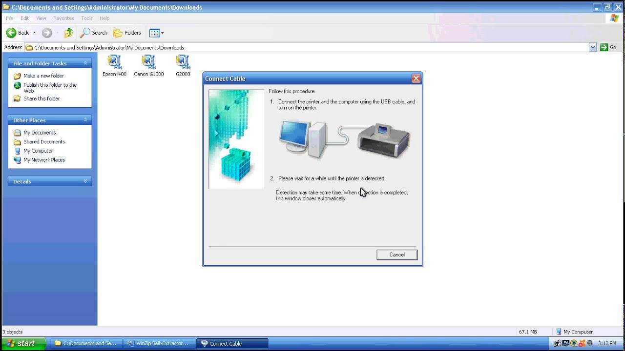 Canon G1000 Printer Driver Setup Youtube