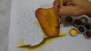 Roberto Ferreira – Pintura em tecido Vasos de Cerâmica – Parte 1