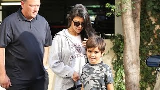 Kourtney Kardashian Steps Out With Mason Amid Reports She's Dating Jourdan Dunn's Ex