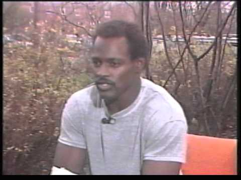 Walter payton of the Chicago bears + interview on channel 4 NFL  show