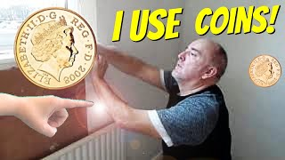 How To Wallpaper Behind Fixed Radiators? The Coin Trick