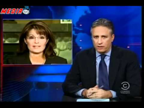 Jon Stewart Mocks Sarah Palin   Jon Stewart on Palin on Hannity   Video   Mediaite