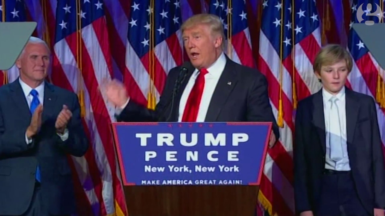 Donald Trump's victory speech in full – video