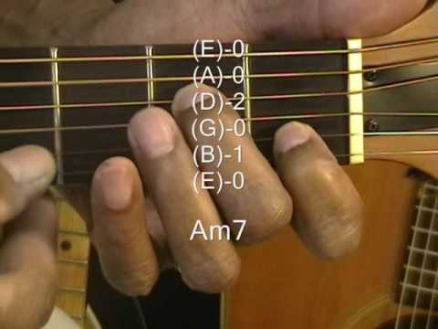 How To Play Am7 Chord On Guitar TABS A Minor 7 Lesson ...