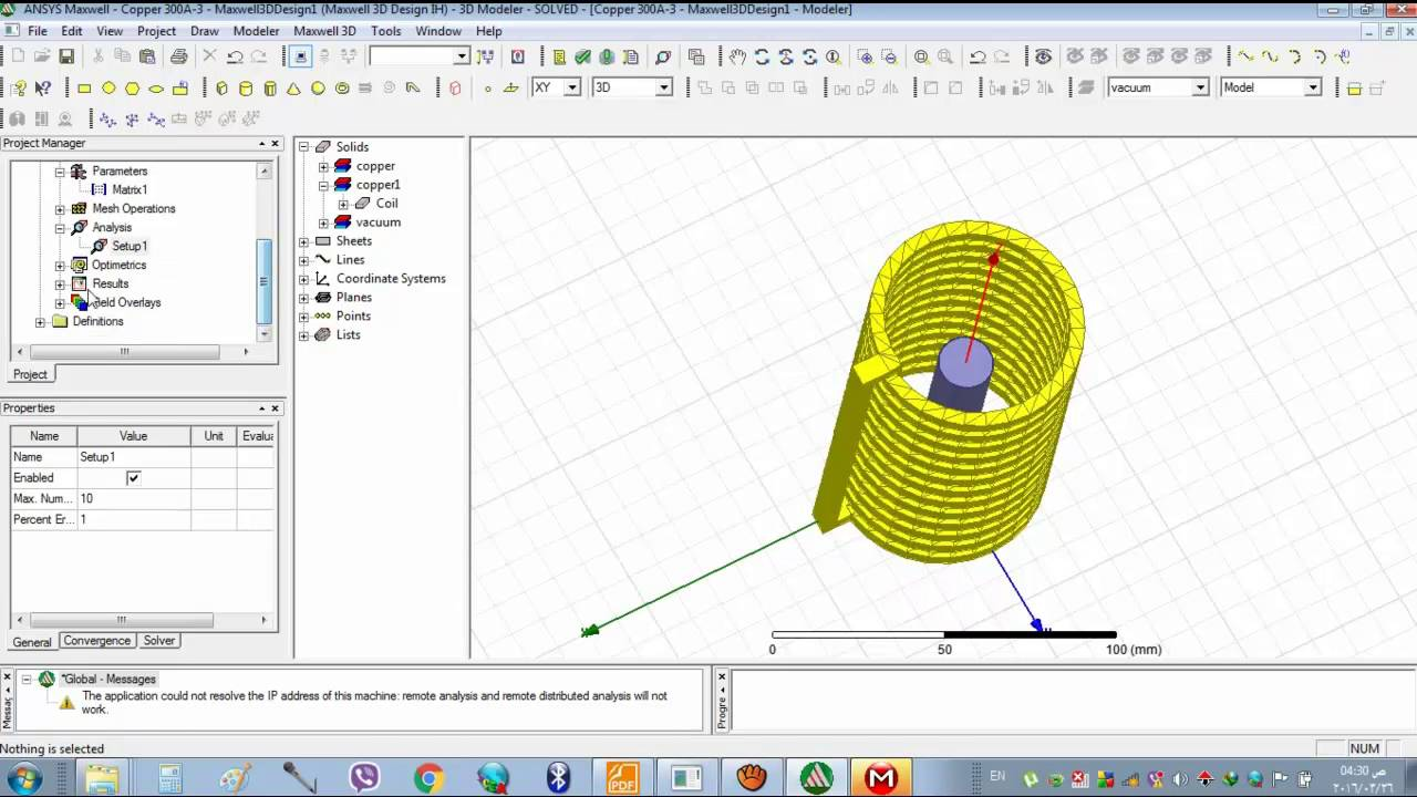 Ansoft Maxwell And Ansys Thermo Coupled Transient Analysis For Induction Heating Diagram