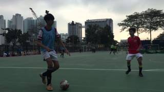 深水埗中學五人足球杯決賽 九龍工業學校(藍色):啟思(紅色)