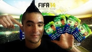 Video Fifa 14 World Cup Brasil | Día de Suerte | Pack Opening | Ultimate Team | PS4 download MP3, 3GP, MP4, WEBM, AVI, FLV Juli 2017