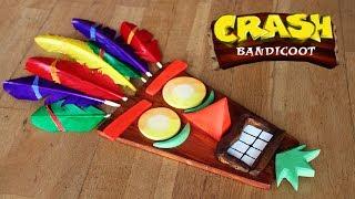Crash Bandicoot Aku Aku Mask Build (Real Wood and Feathers)