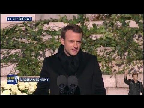 """Emmanuel Macron: """"Johnny Hallyday était une part de la France"""""""