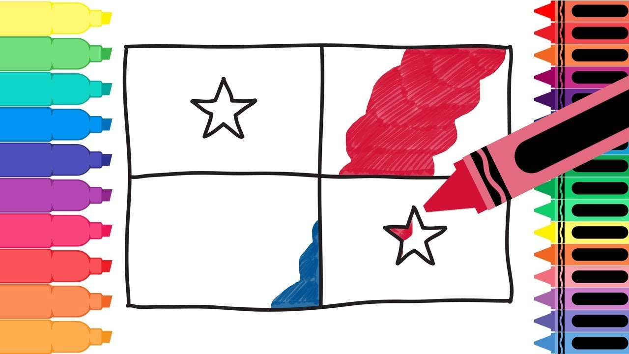 Uncategorized Flag For Kids how to draw panama flag drawing the panamanian coloring pages for kids tanimated toys