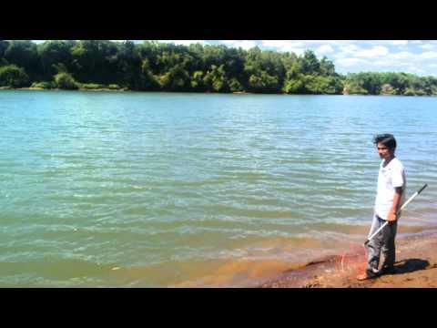 Câu cá sông Đồng Nai đoạn gần hồ Trị An