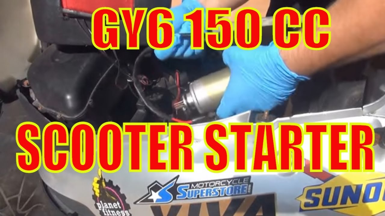 How To Change A Starter 150 Cc Gy6 Chinese Scooter Youtube Qlink 50cc Wiring Diagram