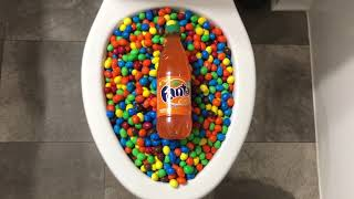 Will it Flush? - M&M's and Orange Soda