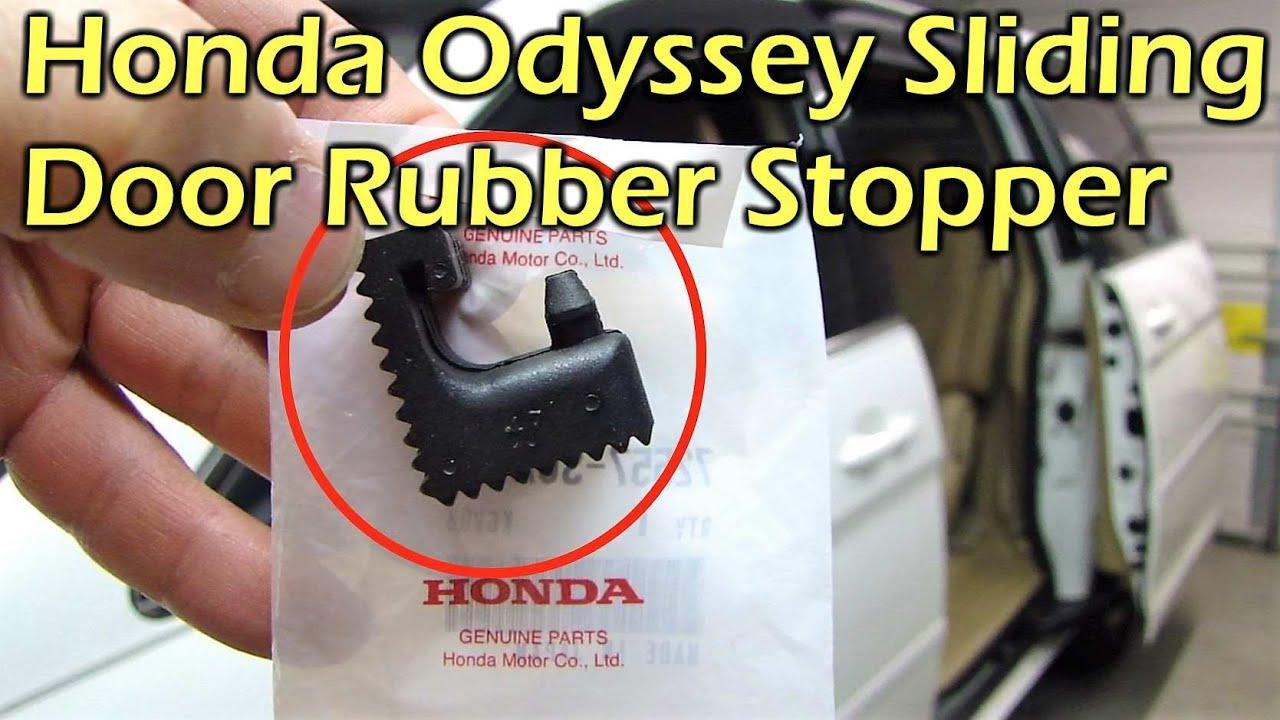 Honda Odyssey Sliding Door Rail Rubber Stopper Replace 05 10 Youtube