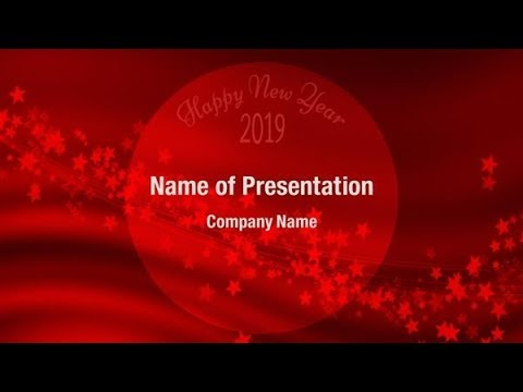 Red New Year Greeting 2018 PowerPoint Template Backgrounds