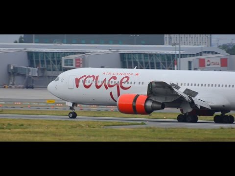Air Canada rouge inaugural flight to Warsaw Includes Water Salute