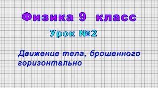 Физика 9 класс (Урок№2 - Движение тела, брошенного горизонтально)